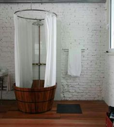 Whiskey Barrel Shower