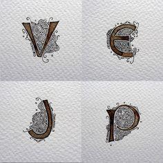 Anachropsy - Calligraphie latine par Benoit Furet - Obsédé