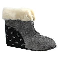 Sorel Kids Innerboots, 6mm ThermoPlus Inner Boot Liners with Faux Fur Snow Cuff (Youth Size 10). Replacement boot liners are made from 6mm ThermoPlus felt with a faux-fur ivory snow cuff.