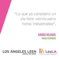 """Hace 10 años hizo su aparición una de las novelas más importantes de la literatura mexicana contemporánea: """"Diablo Guardián"""", obra de Xavier Velasco que estaremos celebrando en LéaLA."""