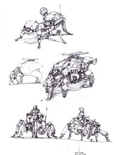 Creature (Insect mammal plants) is always the best inspiration for me to explore new style mech. The key here is how do you use these creatures, using their shapes? functions? forms? or structures? What do you think?