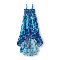tie dye high-low dress