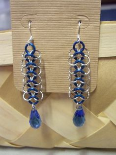 Chainmail dangle earrings by MagyckalDreams on Etsy, $6.00