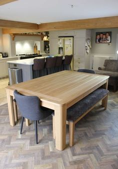 The Farmhouse Rollover - Kitchen Dining & Pool Table Design Dining Room Pool Table, Diy Pool Table, Dining Table With Storage, Dining Table Design, Pool Tables, Home Decor Kitchen, Kitchen Dining, Lounge Areas, Decoration