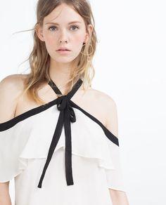 Imagem 3 de BLUSA HALTER FOLHO da Zara