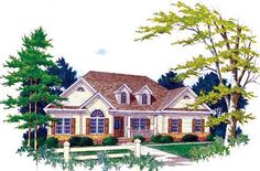 House Plan 89778 | Traditional Plan with 2186 Sq. Ft., 4 Bedrooms, 4 Bathrooms, 2 Car Garage at family home plans
