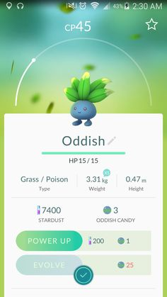 Oddish • I really don't want to evolve this guy... • #083