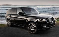 Land Rover, Range Rover Vogue, 2017, SUV, luxury cars, black Range Rover