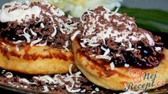 Lívance s povidly a smetanou Nutella, Pancakes, French Toast, Cooking Recipes, Yummy Food, Treats, Vegan, Breakfast, Sweet