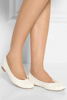 Repetto Cendrillon Lace Ballet Flat | 42 Pairs Of Wedding Flats To Keep You Comfy & Cute On Your Big Day