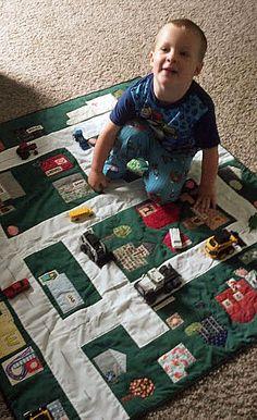 Toy car community playmat. So darn cute!