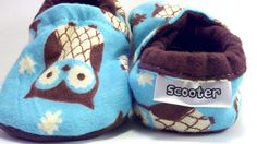 Baby Boy Shoes Owl Shoes Baby Shoes Toddler by ScooterBooties