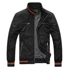 BLACK MEN  CLOTHING | GUCCI men's leisure jacket Gucci men Gucci jacket jackets coat men's ...