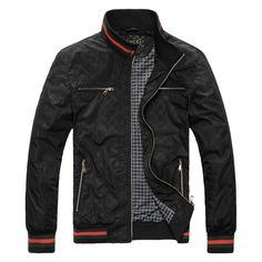 BLACK MEN CLOTHING | GUCCI men's leisure jacket Gucci men Gucci jacket jackets coat men's ...
