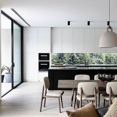 'Minimal Interior Design Inspiration' is a weekly showcase of some of the most perfectly minimal interior design examples that we've found around the web - all Modern Kitchen Design, Interior Design Kitchen, Interior Decorating, Kitchen Units, Kitchen Ideas, Design Moderne, Cuisines Design, Minimalist Living, Apartment Interior