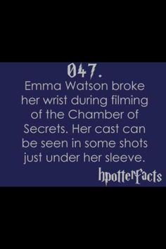 Harry Potter Facts. 7