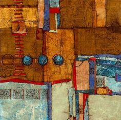 Collage art of Laura Lein-Svencner: My 36 x 36's Series
