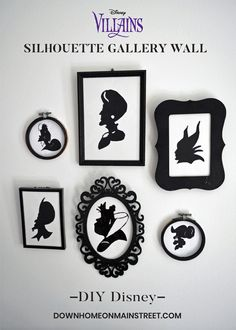 Revel in the darker side of Disney this Halloween and show these devious baddies the love they deserve by creating your own Disney Villain wall gallery.#DisneyDecor #DisneyHalloween #DisneyDIY #Disneycraft #homedecor #halloween #DisneyVillains