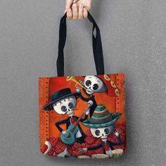 Sugar Skull Tote Bags Set 1 (6 designs)