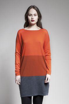 MASKA Jennie fine knit sweater dress | 100% extra fine wool | Knitted in Nepal | www.maska.se