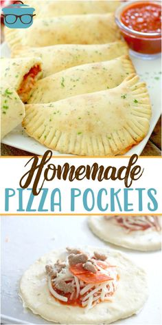 Homemade Pizza Pockets are made from a simple homemade pizza dough recipe filled with sauce, pepperoni, sausage and cheese. Fun for kids too! # Food and Drink homemade HOMEMADE PEPPERONI PIZZA POCKETS Pizza Recipes, Lunch Recipes, Appetizer Recipes, Cooking Recipes, Skillet Recipes, Steak Recipes, Cooking Tools, Homemade Pizza Pockets, Easy Homemade Pizza