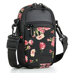 Compact Point and Shoot Camera Case Floral Sling Bag with Rain Cover, Accessory Pockets and Shoulder Strap by USA Gear- Works W/ Olympus Pen-F, Stylus SH-3, Tough TG-870, Canon PowerShot ELPH and More #Compact #Point #Shoot #Camera #Case #Floral #Sling #with #Rain #Cover, #Accessory #Pockets #Shoulder #Strap #Gear #Works #Olympus #Stylus #Tough #Canon #PowerShot #ELPH #More