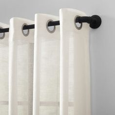 Shop for Archaeo Slub Textured Linen Blend Grommet Top Curtain. Get free delivery On EVERYTHING* Overstock - Your Online Home Decor Outlet Store! Cool Curtains, Beautiful Curtains, Hanging Curtains, Sheer Curtains, Curtain Fabric, Curtain Rods, Panel Curtains, Curtain Styles