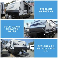 Designed by us and built for us. Overland caravans have a range on inclusions that are considered optional in other brands. Caravans, Gold Coast, Range, Building, Design, Cookers, Buildings, Construction