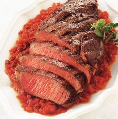 Try this recipe for a melt-in-the mouth steak with simple Italian sauce