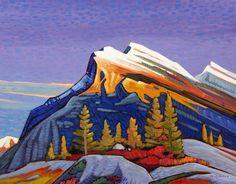 """'Mt Rundle' 22"""" x 28"""" Oil on Canvas by Nicholas Bott"""