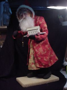 """Sneak Peek, not quite finished, toys are made but not placed yet. Going on eBay soon. 22"""".  """"Walking Santa"""" DeCamp 3/30/14"""