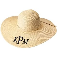 Monogrammed Floppy Hat - Natural - Swoozies
