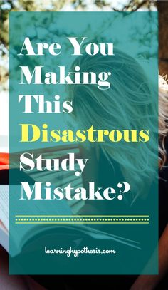 Study tips, tricks, and strategies that work.  Study better not harder.  Study skills often have to be taught.  Stop making this mistake.