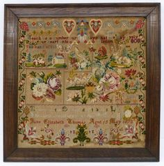 A Beautiful 19th Century Sampler Dated 1875