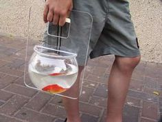 Portable Fish Tank- you know for all your fish tank travel needs! ahhahaha