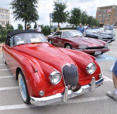 1959 Jaguar XK 150 at the 2009 Frisco, TX Jaguar Car Show. Nice Jaguar photo found on the cars cars vs lamborghini Tata Motors, British Sports Cars, Classic Sports Cars, Jaguar Sport, Jaguar Cars, Dream Cars, New Mustang, Automobile, Classy Cars