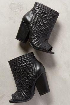 Schutz Pietra Booties Black Boots #anthrofave #anthropologie