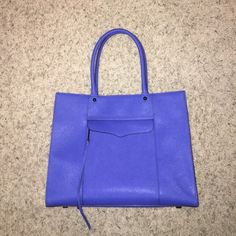 Rebecca Minkoff MAB cobalt tote bag Authentic bag MINT CONDITION new with dust bag, additional strap and authenticity card included! ‼️also just listed on eBay ‼️NO LOW BALL OFFERS PLEASE Rebecca Minkoff Bags Totes