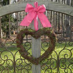Heart Wreath  Valentine Wreath  Pink by EverBloomingOriginal, $30.00