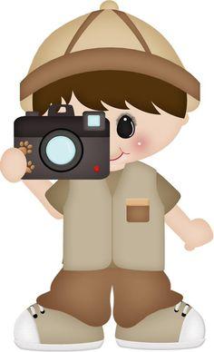 Explorador Jungle Clipart, Clipart Boy, Cute Clipart, Jungle Theme Classroom, Safari Theme Party, Welcome To The Jungle, Kid Character, Sick Kids, Jungle Animals