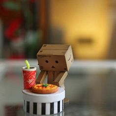 Danbo w/fast food Danbo, Miss Piggy, 7 11 Logo, Luv Letter, Box Robot, Amazon Box, Pics For Dp, Little Boxes, Box Art