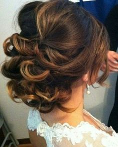 like this updo, possibly for ceremony, then let down for reception