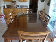 Barely-Used-Dining-Table-with-Six-Chairs
