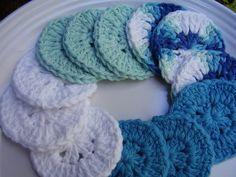 12  Facial Scrubbies 100% Cotton Eco-Friendly by aStateOfGrace