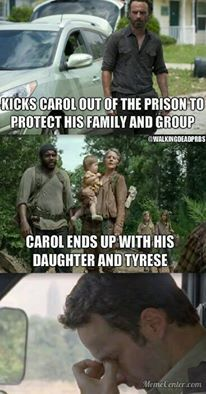Hahah... well, I guess what goes around comes around? But sheesh Karma you have a sick sense of humor lol #WalkingDead
