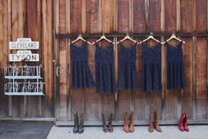 Adorable navy lace dresses & cowboy boots! Allie Lindsey Photography