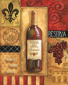 Reserva Tenuta Canvas Art - Gregory Gorham x Wine Images, Bottle Images, Wine Wall Art, Decoupage Printables, Wine Photography, Cafe Art, Wine Decor, Wine And Beer, Vintage Prints
