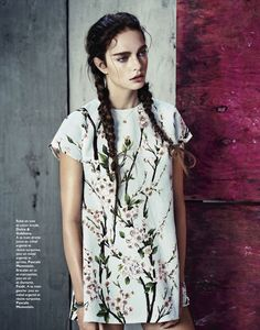visual optimism; fashion editorials, shows, campaigns & more!: flower swedish: sophie droogendijk by honer akrawi for grazia france 18th april 2014
