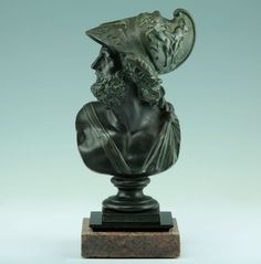 Wunderschöne Bronze Büste des Ajax nach der Antike 1880 Statue Sculpture Figur