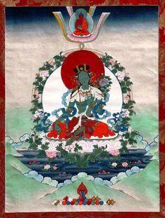 Green Tara karmapa hat